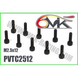 PVTC2512 Vis acier tête cylindrique M2,5x12 (10 pcs)