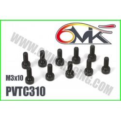 PVTC310 Vis acier tête cylindrique M3x10 (10 pcs)
