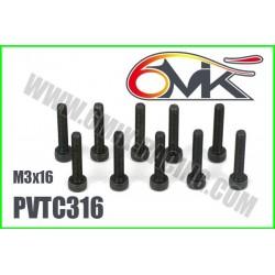 PVTC316 Vis acier tête cylindrique M3x16 (10 pcs)