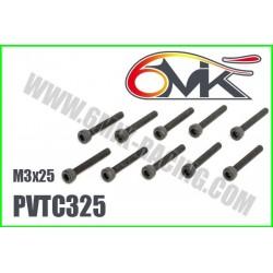PVTC325 Vis acier tête cylindrique M3x25 (10 pcs)