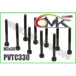 PVTC330 Vis acier tête cylindrique M3x30 (10 pcs)