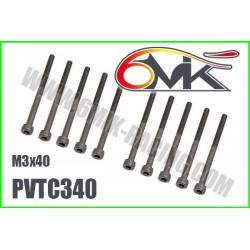 PVTC340 Vis acier tête cylindrique M3x40 (10 pcs)