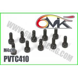 PVTC410 Vis acier tête cylindrique M4x10 (10 pcs)