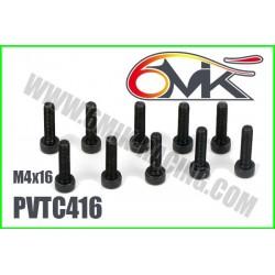 PVTC416 Vis acier tête cylindrique M4x16 (10 pcs)