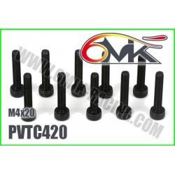 PVTC420 Vis acier tête cylindrique M4x20 (10 pcs)