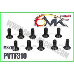 PVTF310 Vis acier tête fraisée M3x10 (10 pcs)