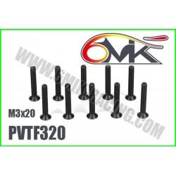 PVTF320 Vis acier tête fraisée M3x20 (10 pcs)
