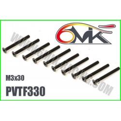 PVTF330 Vis acier tête fraisée M3x30 (10 pcs)