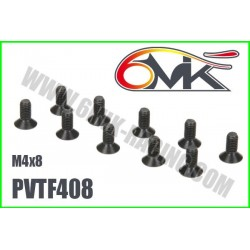 PVTF408 Vis acier tête fraisée M4x8 (10 pcs)