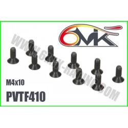 PVTF410 Vis acier tête fraisée M4x10 (10 pcs)