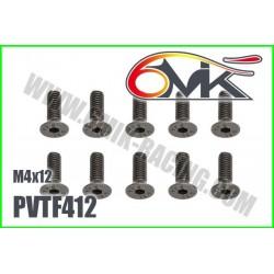 PVTF412 Vis acier tête fraisée M4x12 (10 pcs)