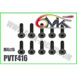 PVTF416 Vis acier tête fraisée M4x16 (10 pcs)
