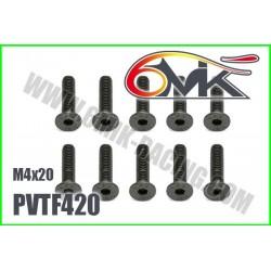 PVTF420 Vis acier tête fraisée M4x20 (10 pcs)
