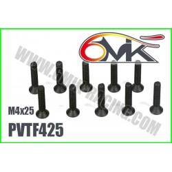 PVTF425 Vis acier tête fraisée M4x25 (10 pcs)