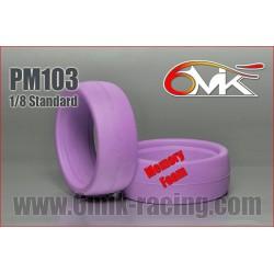 PM103 Inserts moulés 1/8 haute résistance Orange (la paire)