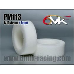 PM113 Mousses 1/10 TT Avant haute résistance (la paire)