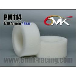PM114 Mousses 1/10 TT Arrière haute résistance (la paire)