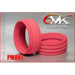 PM801 Inserts 1/8TT « Ultra » rouge (la paire)
