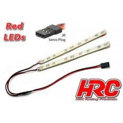 HRC8705R Set d'éclairage - 1/10 TC/Drift - LED - Prise JR - Bas de caisse – Rouge
