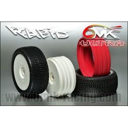 HRC1053BK Ecrous de roues - TSW Pro Racing - M4 strié flasqué - Aluminium - Noir (4 pces)