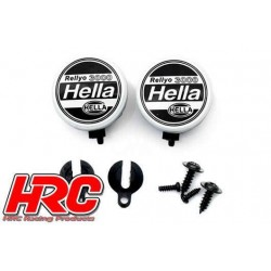 HRC8723A1 Set d'éclairage - 1/10 ou Monster Truck - LED - Hella Cover - 2x (sans LED)