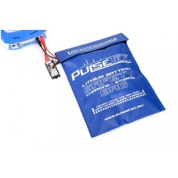 PC-010-001 Pulsetec - Lithium Battery Safety Bag - Charging - Storage - 30x23cm