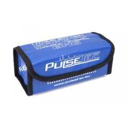 PC-010-002 Pulsetec - Lithium Battery Safety Bag - Charging - Storage - 19x7.5x8cm