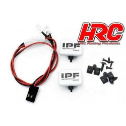 HRC8723B2 Set d'éclairage - 1/10 ou Monster Truck - LED - Prise JR - IPF Cover - 2x LED Blanches