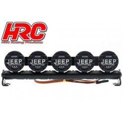 HRC8723J5 Set d'éclairage - 1/10 ou Monster Truck - LED - Prise JR - Barre de toit - Jeep Cover - 5x LED Blanches