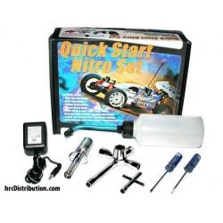 FAST691EU Nitro Starter Set - CH - Pipette / Chauffe bougie avec chargeur / Tournevis et clés