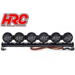 HRC8723J6 Set d'éclairage - 1/10 ou Monster Truck - LED - Prise JR - Barre de toit - Jeep Cover - 6x LED Blanches
