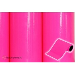 OR-27-014-025 Oracover - Oratrim - Fluorescent Neon-Pink ( Length : Roll 25m , Width : 12cm )