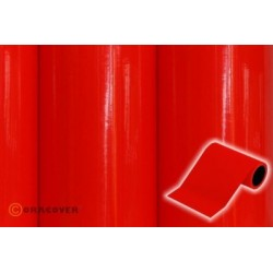 OR-27-021-025 Oracover - Oratrim - Fluorescent Red ( Length : Roll 25m , Width : 12cm )