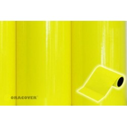 OR-27-031-025 Oracover - Oratrim - Fluorescent Yellow ( Length : Roll 25m , Width : 12cm )