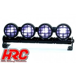 HRC8724BW Set d'éclairage - 1/10 ou Monster Truck - LED - Prise JR - Barre de toit - Type B Blanc