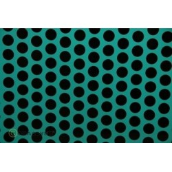 OR-41-017-071-010 Oracover - Fun 1 (16mm Dots) Turquoise + Black ( Length : Roll 10m , Width : 60cm )