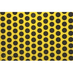 OR-41-033-071-010 Oracover - Fun 1 (16mm Dots) Cadmium Yellow + Black ( Length : Roll 10m , Width : 60cm )