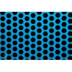 OR-41-051-071-010 Oracover - Fun 1 (16mm Dots) Blue Fluorescent + Black ( Length : Roll 10m , Width : 60cm )