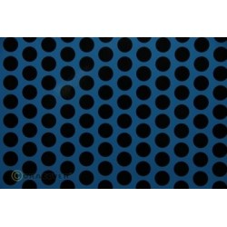 OR-41-053-071-010 Oracover - Fun 1 (16mm Dots) Light Blue + Black ( Length : Roll 10m , Width : 60cm )