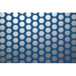 OR-41-053-091-010 Oracover - Fun 1 (16mm Dots) Light Blue + Silver ( Length : Roll 10m , Width : 60cm )