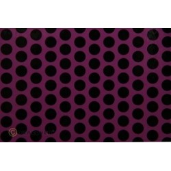 OR-41-054-071-010 Oracover - Fun 1 (16mm Dots) Violet + Black ( Length : Roll 10m , Width : 60cm )