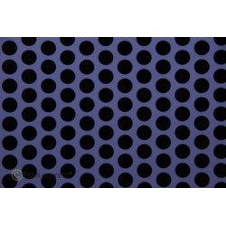 OR-41-055-071-010 Oracover - Fun 1 (16mm Dots) Purple + Black ( Length : Roll 10m , Width : 60cm )