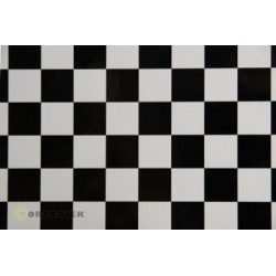 OR-43-010-071-010 Oracover - Fun 3 (25mm Square) White + Black ( Length : Roll 10m , Width : 60cm )