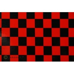 OR-43-023-071-010 Oracover - Fun 3 (25mm Square) Red + Black ( Length : Roll 10m , Width : 60cm )