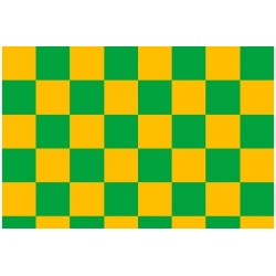 OR-43-033-040-010 Oracover - Fun 3 (25mm Square) Cadm. Yellow + Green ( Length : Roll 10m , Width : 60cm )