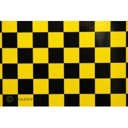 OR-43-033-071-010 Oracover - Fun 3 (25mm Square) Yellow + Black ( Length : Roll 10m , Width : 60cm )