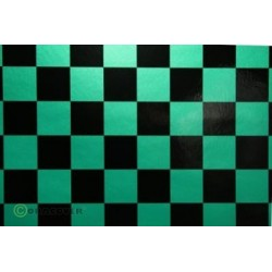 OR-43-047-071-010 Oracover - Fun 3 (25mm Square) Pearl Green + Black ( Length : Roll 10m , Width : 60cm )
