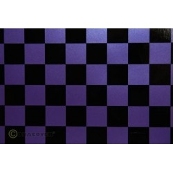 OR-43-056-071-010 Oracover - Fun 3 (25mm Square) Pearl Purple + Black ( Length : Roll 10m , Width : 60cm )