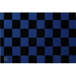 OR-43-057-071-002 Oracover - Fun 3 (25mm Square) Pearl Blue + Black ( Length : Roll 2m , Width : 60cm )