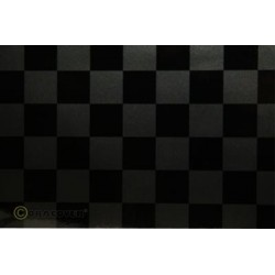 OR-43-077-071-010 Oracover - Fun 3 (25mm Square) Pearl Charcoal + Black ( Length : Roll 10m , Width : 60cm )